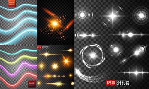 多款炫丽光效元素设计矢量素材集V07