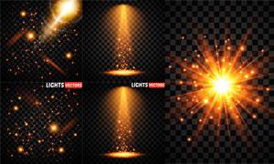 多款炫丽光效元素设计矢量素材集V08