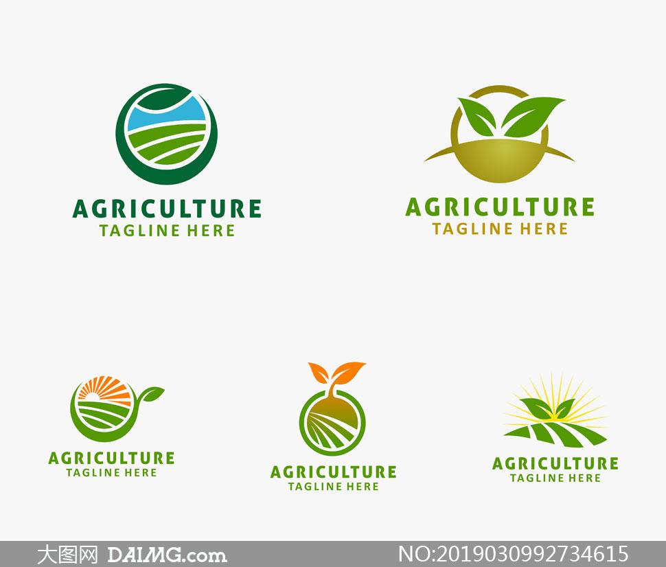 绿色农业环保产业标志设计矢量素材