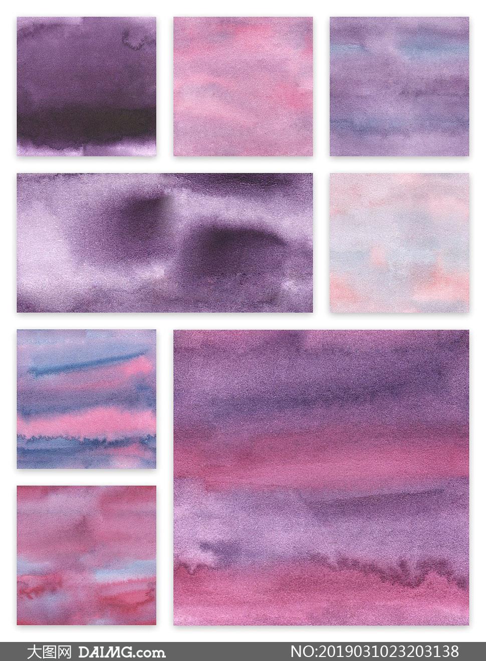 紫色系的水彩底紋背景主題高清圖片