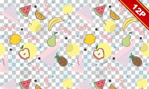 四方连续水果元素背景主题免抠图片
