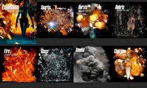 Rons戰爭裝飾火花和爆炸特效PSD素材