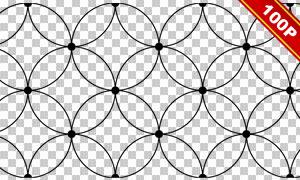 點線組合幾何圖形無縫背景免摳素材
