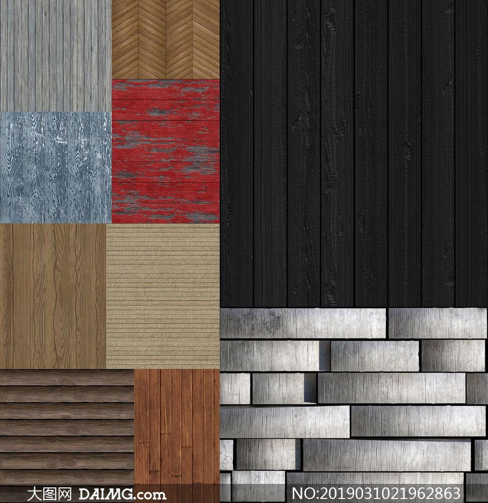 木板拼接效果木紋背景圖案高清圖片