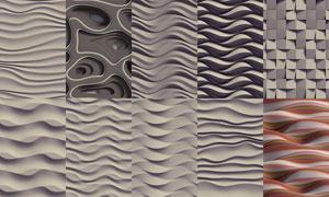 立体几何波形元素背景设计高清图片