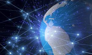 光效装饰点线元素地球创意高清图片