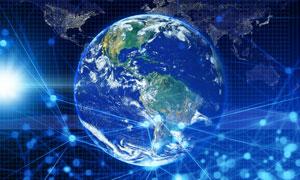 蔚蓝星球网络互联主题创意高清图片