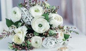 婚庆场合适用白色鲜花摄影高清图片