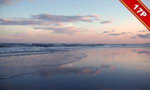 天空海滩沙滩风光主题高光图片素材