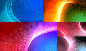 炫丽多彩粒子曲线抽象背景高清图片
