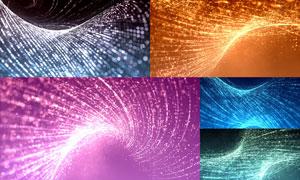 粒子运动波形曲线创意背景高清图片