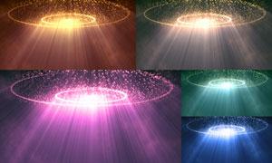 圆环下的耶稣光线创意背景高清图片