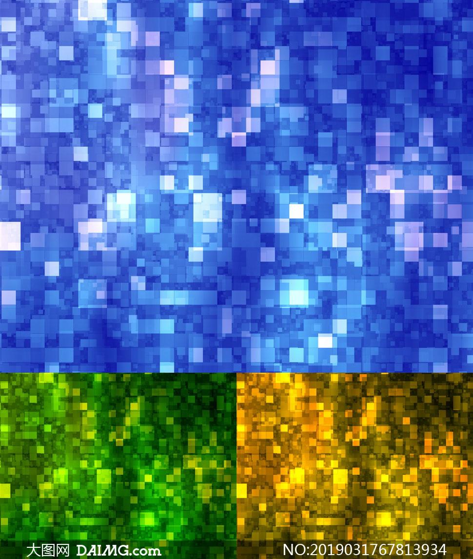 方块图案抽象背景创意设计高清图片