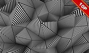 黑白条纹元素平面构成创意高清图片