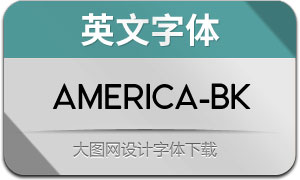 America-Black(英文字体)