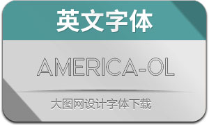 America-Outline(英文字体)