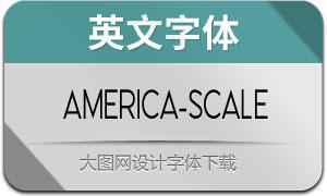 America-Scale(英文字体)