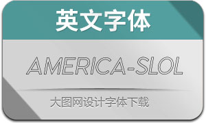 America-SlantOutline(英文字体)