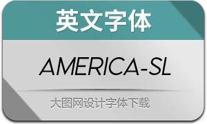 America-Slant(英文字体)