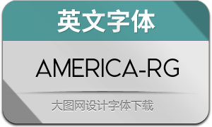 America(英文字体)