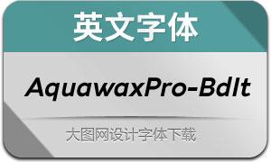 AquawaxPro-BoldItalic(英文字体)