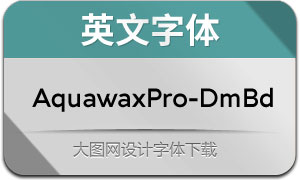AquawaxPro-DemiBold(英文字体)