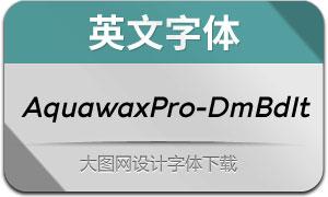 AquawaxPro-DemiBoldIt(英文字体)