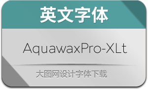 AquawaxPro-ExtraLight(英文字体)