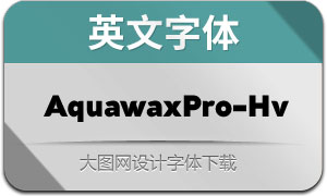 AquawaxPro-Heavy(英文字体)