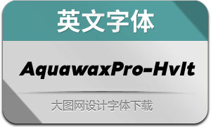 AquawaxPro-HeavyItalic(英文字体)