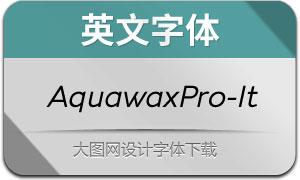 AquawaxPro-Italic(英文字体)