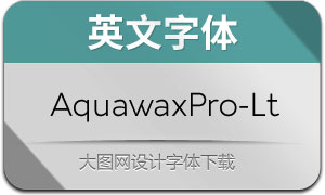 AquawaxPro-Light(英文字体)