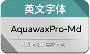 AquawaxPro-Medium(英文字体)
