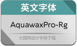AquawaxPro-Regular(英文字体)