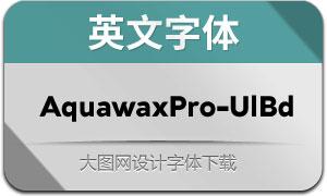 AquawaxPro-UltraBold(英文字体)
