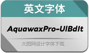 AquawaxPro-UltraBoldIt(英文字体)