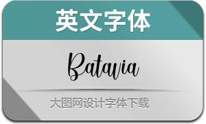 Batavia(英文字体)