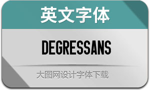 DegresSans(英文字体)