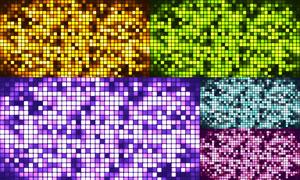 多彩的方块马赛克图案创意高清图片