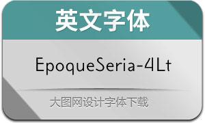 EpoqueSeria-4Light(英文字体)