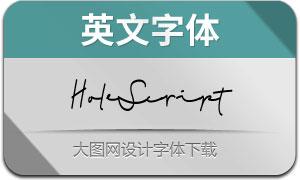 HoleScript(英文字体)