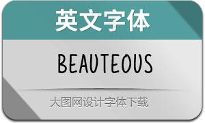 Beauteous(英文字体)