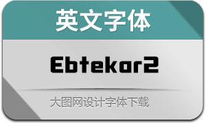 Ebtekar2(英文字体)
