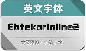 EbtekarInline2(英文字体)
