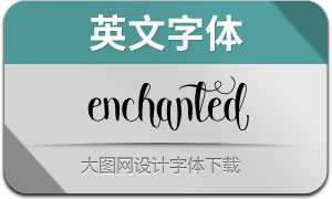 Enchanted(英文字体)
