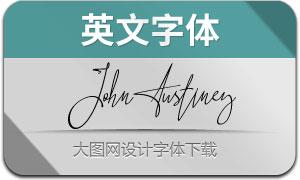 JohnAustiney(英文字体)