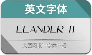 Leander-Italic(英文字体)