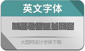 Mazeline(英文字体)