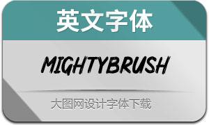 MightyBrush(英文字体)