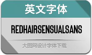 RedHairSensualSans(英文字体)